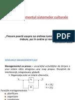 Managementul Sistemelor Culturale