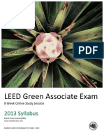 8 Week Syllabus LEED Green Associate