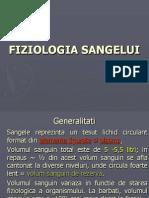 Curs fiziologia Sangelui