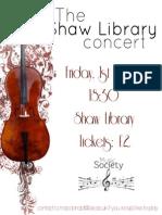 Shaw Lib Flyer