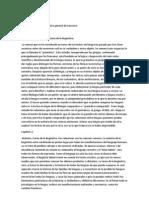 Resumen Curso de lingüística general de Saussure