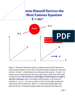 How Einstein Himself Derives the World Most Famous Equation