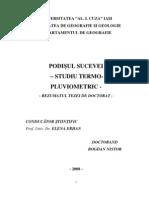Podisul Sucevei - Studio Termo - Pluviometric