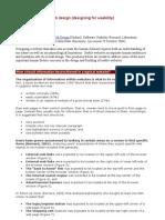 Criteria for Optimal Web Design
