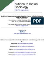 105  M.N. Srinivas on sociology and social change in India