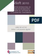 V SIMPOSIO INTERNACIONAL DE SISTEMAS DE INFORMACIÓN E INGENIERÍA DEL SOFTWARE EN LA SOCIEDAD DEL CONOCIMIENTO