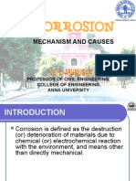 Corrosion CAUSES and MECHANISM arumugam Anna University, Chennai, India