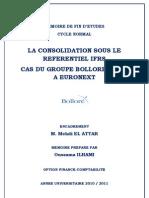 La consolidation sous le référentiel IFRS cas du GROUPE BOLLORE, COTE A EURONEXT