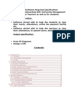 SRS of University Management System by Balwinder Singh Vehgal