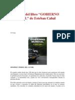 Extractos del libro- GOBIERNO MUNDIAL de Esteban Cabal.docx