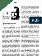 """The Heimlich Manuever [sic],"" a two-part Public Health Statement by Surgeon General C. Everett Koop, December 11+27, 1985 (note ""manuever"" misspelling throughout)"