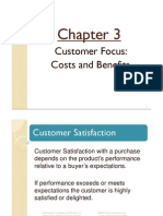 Chapt 3- Customer Focus - Costs and Benefits