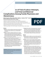Comparing Rates of Trial of Labour 2008