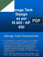 TDI13 Storage Tank Design as Per IS803 and API650