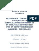 Élaboration d'un guide des pratiques de la consolidation des comptes et du passage aux normes IAS I