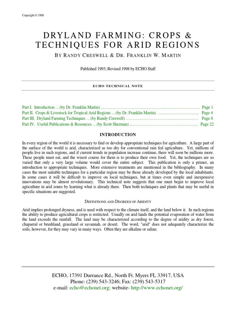 dryland farming crops u0026 tech for arid regions 1 crop rotation