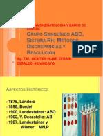 Clase de Grupos Sanguineos, Abo;Rh y Discrepancias 2012 Fb