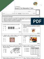 prueba de matematica Nº3 (Cálculo mental-propiedades)