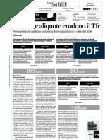 Le Nuove Aliquote Erodono TFR