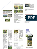 Small Irrigation Technologies