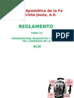 ORGANIZACIÓN DE LAS RCM II