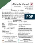 Bulletin for June 9, 2013