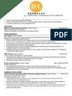 Donna Lau's Resume