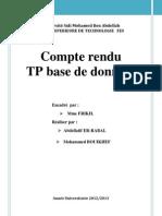 TP base de données