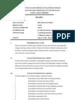 Silabus Metris Non Reguler Genap 2011