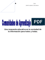 Comunidades de Aprendizaje.bases Teoricas