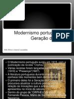 modernismo portugues e a geração de orpheu