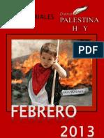 Editoriales Palestina Hoy Febrero 2013
