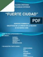 2008 02 23 Objetivos de La Unidad de La Iglesia