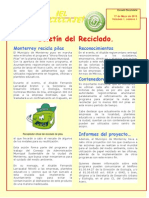 Boletín del reciclado de pilas