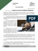 04/03/12 Germán Tenorio Vasconcelos ofrece Coro Cuidados Paliativos a Enfermos Terminales