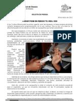 09/03/12 Germán Tenorio Vasconcelos fumar Pone en Riesgo Tu Vida, Sso