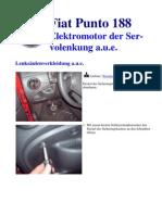 Fiat Punto 188 Elektromotor Der Servolenkung