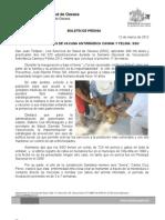 12/03/12 Germán Tenorio Vasconcelos 400 MIL DOSIS DE VACUNA ANTIRRÁBICA CANINA Y FELINA, SSO