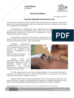 27/03/12 Germán Tenorio Vasconcelos acciones Para Prevenir Conjuntivitis, Sso