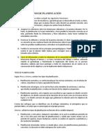 FUNCIONES Y TIPOS DE PLANIFICACIÓN