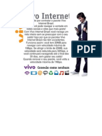 Obrigado Por Contratar o Pacote Vivo Internet Brasil