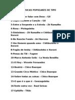SELEÇÃO MÚSICAS POPULARES DE TIPO SUPERIOR