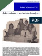 Boletin_11 Isis Aniversario en El Movimiento de Mujeres