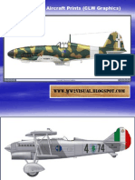 WW II Italian Aircraft Prints (CLW Graphics)