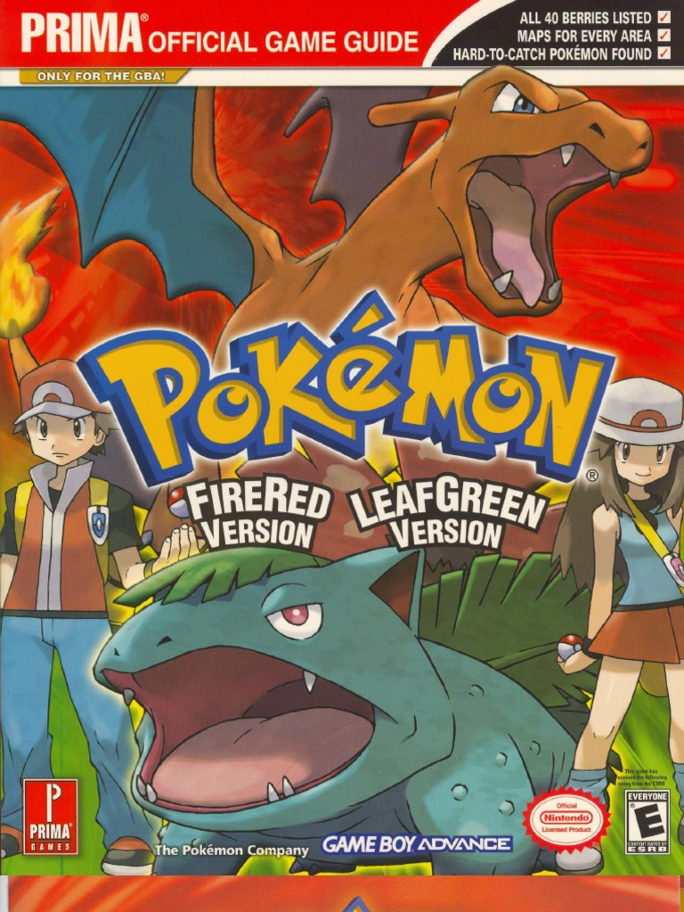 pokemon firered leafgreen official guide rh scribd com pokemon fire red guide pdf pokemon fire red guide download