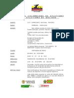 Reglamentacion Campeonato Nacional Mayores - Cartagena de Indias 2013