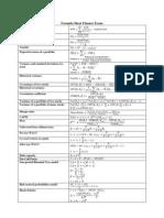Formula Sheet Finance Exam