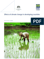 Effects of Climate Change in Developing Countries