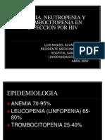 Anemia, Neutropenia y Trombocitopenia en Infeccion Por