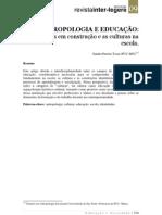 U2cTosta_antropologia e educação_interfaces em construcao e as culturas na escola